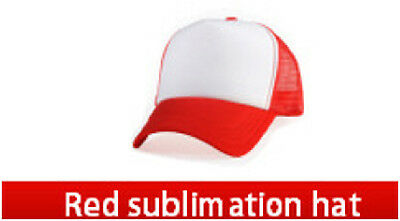 10 Blank KIDS/ADULT SMALL HAT CAP sublimation RED, BLUE SELECT YOUR COLOR