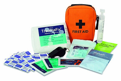 Forestry First Aid Kit -Tractor - Hi Viz Orange Bag - Belt Loop- Trauma Dressing