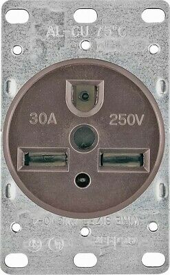 30a 3wire Flush Gnd Receptacle,No 1234-BOX,  Cooper Wiring Devices Inc