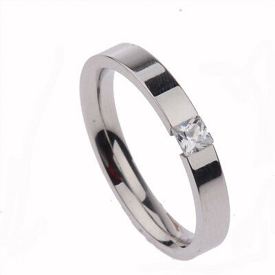 Fashion Charm Ring Women Silver Plated Crystal Ring Wedding Engagement Jewelry