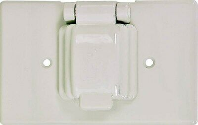 Sgl Receptacle/Switch Cover,No S1961W-SP,  Cooper Wiring Devices Inc