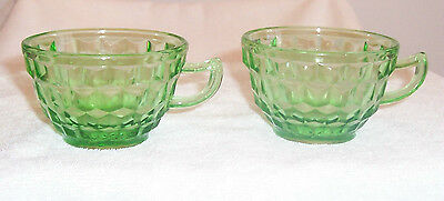 TWO (2) Green Cubist Cups
