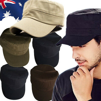 Unisex Service Cap Adjustable Hat Curved Hat Sport Army Military Casual  CAHA12