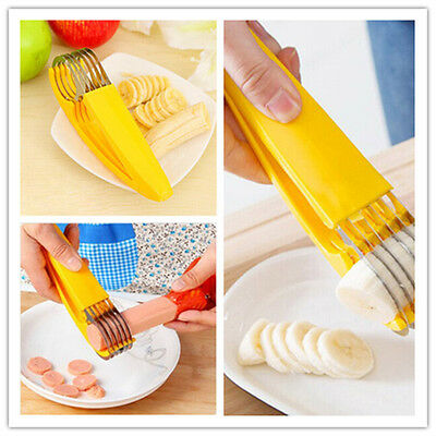 Stainless Steel sausage Banana Slicer Fruit Cutter Cucumber Chopper Kitchen Tool
