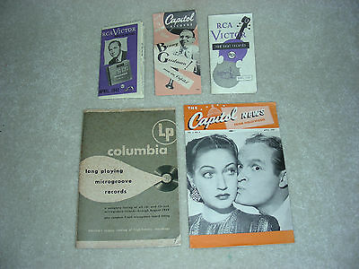 """1947 """"columbia Lp Catalog + Capitol News & Guide + Rca Victor & Red Seal Guides"""""""