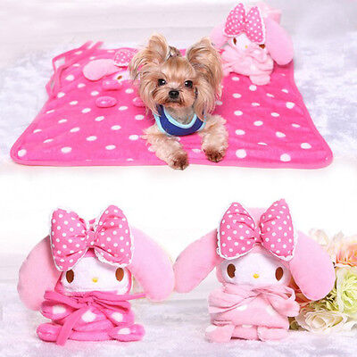 Warm Soft Pet Bed Mat Handcrafted Puppy Fleece Print Cushion Dog Blanket