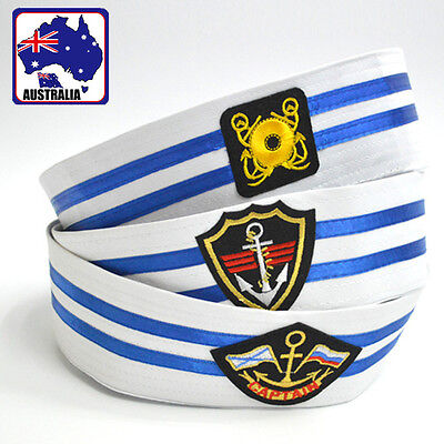 White Navy Cap Sailor Hat Stage Performance Child/Adult Uniform Hats CAHA016