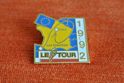 13776 Pin's Pins Le Tour De France Velo Tdf 1992 San Sebastian Paris