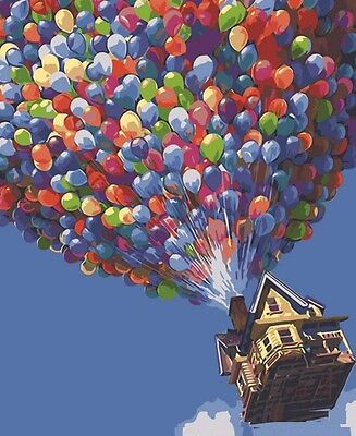 FD4194 Colorful Balloon Digital Oil Painting On Canvas Paint By Number DIY Kit