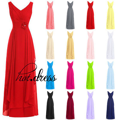 New STOCK Chiffon Formal Prom Party Ball Gown Evening Long Bridesmaid Dress 6-20