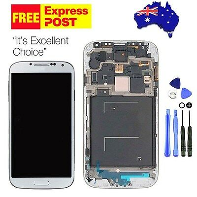 White For Samsung Galaxy S4 i9505 LCD Screen Replacement Digitizer Frame New