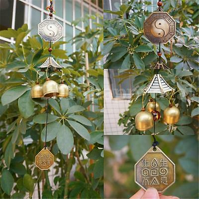 3 Bells Brass Clock Wind Chimes Bell Yard Garden Outdoor Living Decor Nice Gift