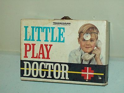 vintage 1964 Little Play Doctor kit American made Transogram Hard To Find toy