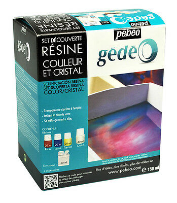 Pebeo Gedeo Discovery Set Colour Crystal Resin Kit 150ml - Art, Jewellery Making