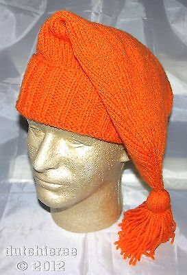 Handmade Knitted Voyager Hat - Hunter Orange (French/Mountain Man) **NEW**