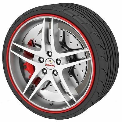 Rimblades Alloy Wheel Rim Protectors - Red Rim Guards