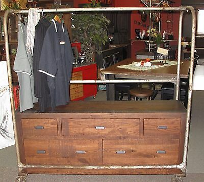 Vintage Luggage rack/ TV stand/ Wardrobe