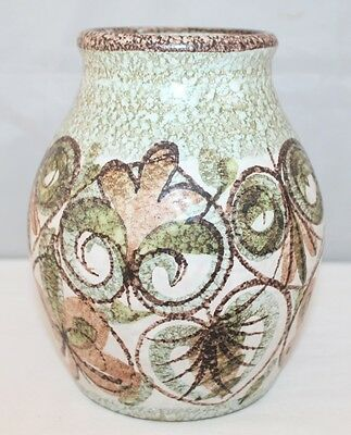 "Bourne Denby - Glyn Colledge Signed Studio Pottery - 7"" Vase - vgc"