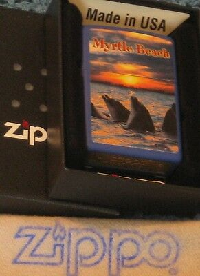 ZIPPO  MYRTLE BEACH  Lighter   MB  DOLPHIN  SUNSET  Tourist  MINT In BOX