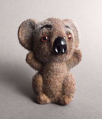 Vintage Fuzzy Koala Bear Animal Figurine