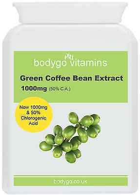 Green Coffee Bean Extract 1000mg, Weight Loss, Detox, Anti Ageing, Slimming Aid
