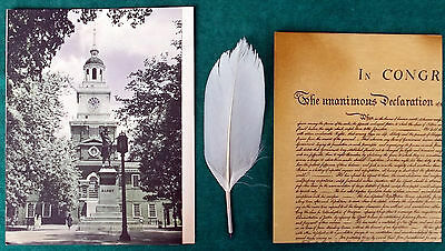 Very Rare Vintage Esso Declaration Of Independence Facsimile With Quill Pen!