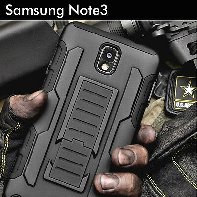 TPU Case Cover For Samsung Galaxy Note 3 Heavy Duty Shockproof Kickstand Armor