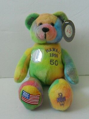 State Of HAWAII 2008 The Original Collectible Quarter, Retired Item Plush Bear