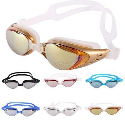 Adult Anti-fog UV Protection Swimming Goggles Glasses Waterproof Multi-Color