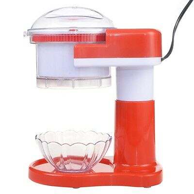 Red Electric Ice Shaver Crusher Machine Snow Cone Maker Commercial Shaved New
