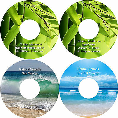Guided Meditation Sleep & Stress Relief & Natural Sounds 4 CD Relaxation Healing