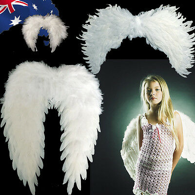 White Child Angel Wings Feather Kid Fairy Party Costume 16cm 29cm 60cm CKFWI99