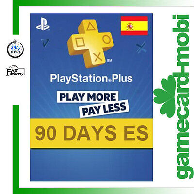 PSN Live Card Plus 90 Tage 3 Monate Playstation Plus Network Key Card PSP PS4 ES
