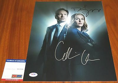 David Duchovny & Gillian Anderson Signed 11x14 X-Files Mulder Scully PSA/DNA