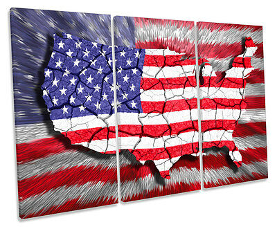 American Flag Art United States Map Us Canvas Usa Art 1999 - American-flag-us-map