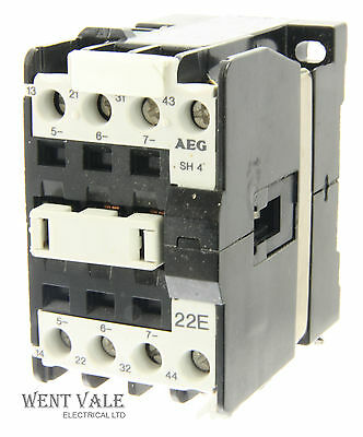 AEG SH4-22E-910-302-545-55 - 20a  Four Pole Control Relay 24vac Coil Un-used