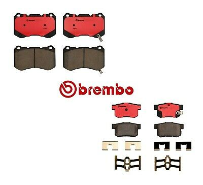 Set Of 2 Front /& Rear Brake Pads for Acura TL Type-S 04-08 w// Brembo