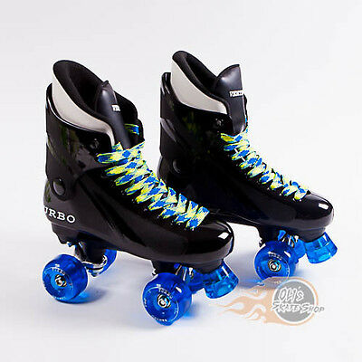 Ventro Pro Turbo Quad Roller Skates, Bauer Style -  Blue Yellow