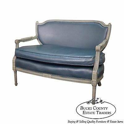 Hollywood Regency French Louis XVI Style Paint Frame Settee