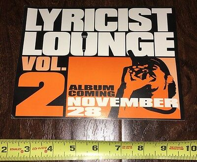 Lyricist Lounge Vol 2 Promo Sticker Rawkus Records Hip Hop Mos Def 90's Old