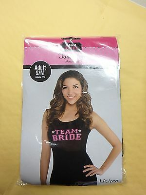 Team Bride Tank Top Shirt Wedding Party Fancy Dress Ladies Night S/M Small Med
