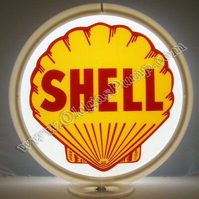 Shell Gasoline & Oil Gas Pump Globe Sign Free S&h
