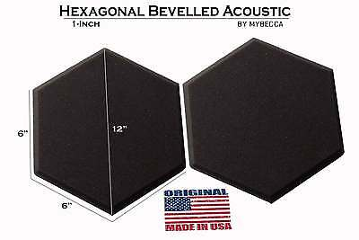 [12PACK] Acoustic Foam2-inch Hexagon (Hexagonal) Tiles Soundproofing Wall Panels