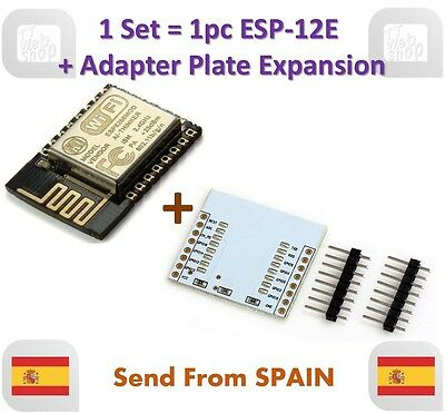 ESP12E ESP8266 Enhanced version Serial WIFI Module + Adapter Plate Expansion