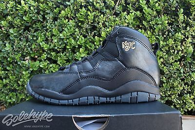 Air Jordan 10 Retro X Ps Sz 3 Y Black City Pack New York Nyc 310807 012