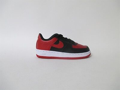 timeless design 87d87 e1205 Nike Air Force 1 Low Black Red White PS Pre School Sz 2 596729-016