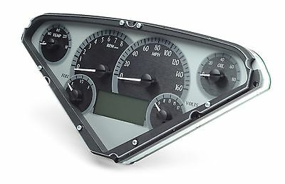 1955-59 Chevy GMC Truck Silver Alloy & Blue Dakota Digital VHX Analog Gauge Kit
