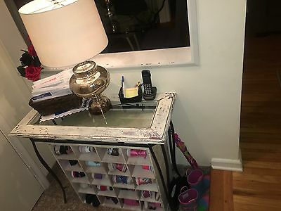 Distressed Foyer Table W/Shoe Holder