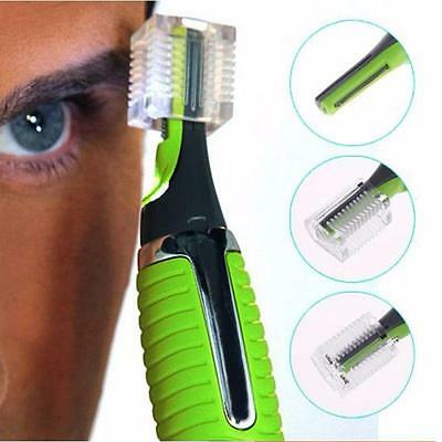 Face Facial Hair Trimmer Shave Electronic Remover Cut Trim Nose Mustache - SS