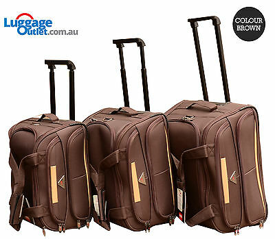 Duffle Bag Set of 3 Travel luggage SwissShield Vohringer with 2 wheels 2 colors